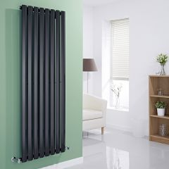 Milano Viti - Black Diamond Panel Vertical Designer Radiator - 1600mm x 560mm