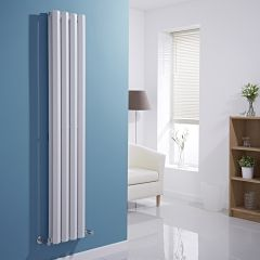 Milano Viti - White Diamond Panel Vertical Designer Radiator - 1600mm x 280mm (Double Panel)