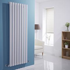 Milano Viti - White Diamond Panel Vertical Designer Radiator - 1600mm x 560mm