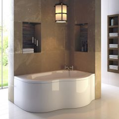 Premier Estuary - 1500mm x 1000mm Corner Bath and Panel - Right Hand