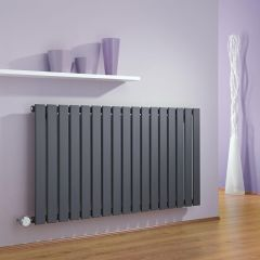 Milano Alpha - Anthracite Slim Panel Bluetooth Equipped Electric Horizontal Designer Radiator - 635mm x 1190mm