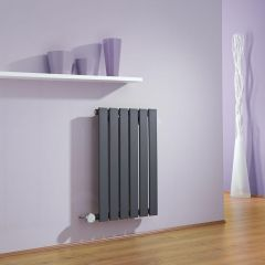 Milano Alpha - Anthracite Slim Panel Bluetooth Equipped Electric Horizontal Designer Radiator - 635mm x 420mm