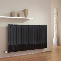 Milano Alpha - Black Horizontal Single Slim Panel Electric Designer Radiator 635mm x 1190mm