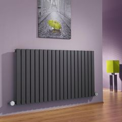 Milano Capri - Anthracite Flat Panel Bluetooth Equipped Electric Horizontal Designer Radiator - 635mm x 1180mm