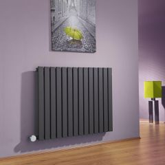 Milano Capri - Anthracite Horizontal Flat Panel Bluetooth Equipped Electric Designer Radiator - 635mm x 834mm