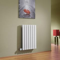 Milano Capri - White Flat Panel Bluetooth Equipped Electric Horizontal Designer Radiator - 635mm x 420mm