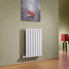 Milano Capri - White Horizontal Flat Panel Electric Designer Radiator 635mm x 420mm