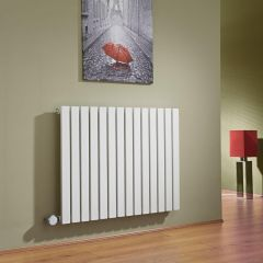 Milano Capri - White Flat Panel Bluetooth Equipped Electric Horizontal Designer Radiator - 635mm x 834mm
