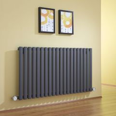 Milano Aruba - Anthracite Bluetooth Equipped Electric Horizontal Designer Radiator - 635mm x 1180mm