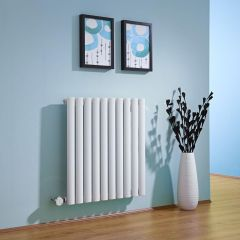 Milano Aruba - White Bluetooth Equipped Electric Horizontal Designer Radiator - 635mm x 595mm