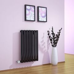 Milano Aruba - Black Bluetooth Equipped Electric Horizontal Designer Radiator - 635mm x 415mm