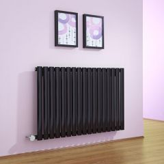 Milano Aruba - Black Bluetooth Equipped Electric Horizontal Designer Radiator - 635mm x 1000mm