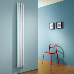Milano Aruba Slim - White Space-Saving Vertical Electric Designer Radiator 1780mm x 236mm