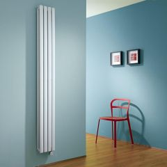 Milano Aruba Slim Electric - White Space-Saving Vertical Designer Radiator - 1780mm x 236mm (Double Panel)
