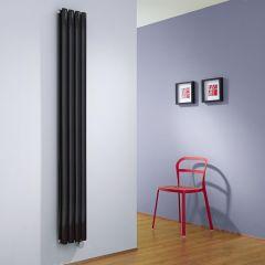 Milano Aruba Slim - High Gloss Black Space-Saving Vertical Electric Designer Radiator 1780mmx236mm (Double)