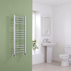 Milano Eco - Flat Chrome Heated Towel Rail - 1000mm x 400mm
