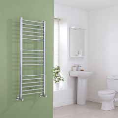 Milano Eco - Flat Chrome Heated Towel Rail - 1200mm x 500mm
