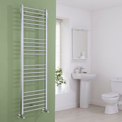 Milano Eco - Flat Chrome Heated Towel Rail - 1600mm x 500mm