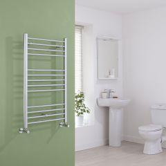 Milano Eco - Flat Chrome Heated Towel Rail 1000mm x 600mm