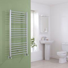 Milano Eco - Chrome Flat Heated Towel Rail - 1200mm x 600mm
