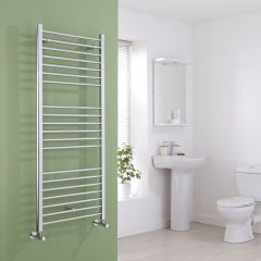 Milano Eco - Flat Chrome Heated Towel Rail - 1400mm x 600mm