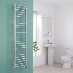 Milano Eco - Curved Chrome Heated Towel Rail - 1600mm x 400mm