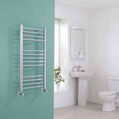 Milano Eco - Curved Chrome Heated Towel Rail 1000mm x 500mm