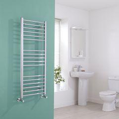 Milano Eco - Chrome Curved Heated Towel Rail - 1200mm x 500mm