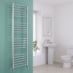 Milano Eco - Curved Chrome Heated Towel Rail 1600mm x 500mm