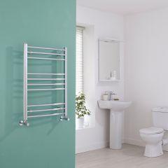 Milano Eco - Curved Chrome Heated Towel Rail - 800mm x 600mm