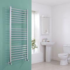 Milano Eco - Curved Chrome Heated Towel Rail - 1400mm x 600mm