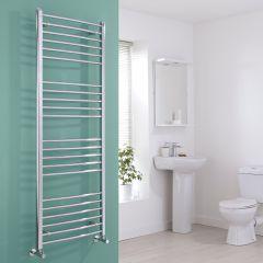 Milano Eco - Chrome Curved Heated Towel Rail - 1600mm x 600mm