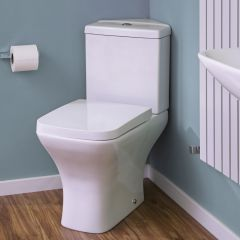 Milano Longton Corner Toilet with Soft Close Seat