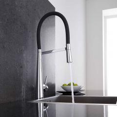 Milano Monobloc Kitchen Mixer Tap with Black Flexi Spray
