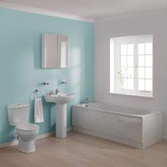 Premier Melbourne 1700mm Straight Bathroom Suite
