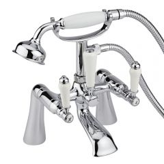 Milano Traditional Lever Bath Shower Mixer Deck or Wall Mounted Tap