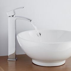Milano Wick High Rise Mono Basin Mixer Tap, No Waste