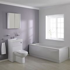 Milano 1700mm Combination WC Unit Bathroom Suite