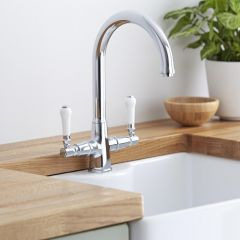 Milano Victoria Traditional Kitchen Sink Mixer Tap Chrome