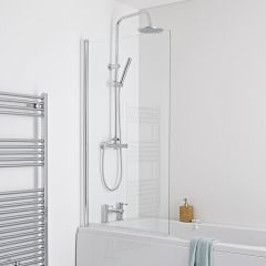 Milano Portland Square Single Bath Shower Screen