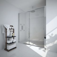Milano Portland 1600mm Sliding Shower Door 6mm
