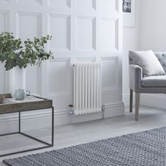 Milano Windsor - Traditional White Horizontal Column Radiator - 600mm x 405mm (Double Column)