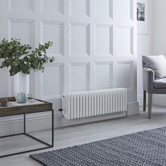 Milano Windsor - Traditional White Horizontal Column Radiator - 300mm x 990mm (Four Column)