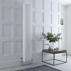 Milano Windsor - Traditional White 4 Column Radiator 1800mm x 270mm (Vertical)
