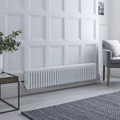 Milano Windsor - Traditional White Horizontal Column Radiator - 300mm x 1485mm (Four Column)