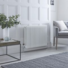Milano Windsor - Traditional White Horizontal Column Radiator - 600mm x 765mm (Four Column)
