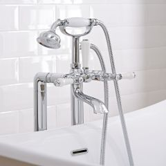 Milano Freestanding Traditional Lever Bath Shower Mixer Kit