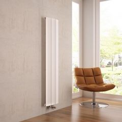 Milano Skye - White Vertical Designer Radiator - 1600mm x 280mm