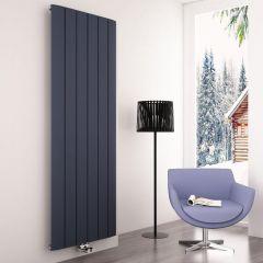 Milano Skye - Anthracite Vertical Designer Radiator - 1800mm x 565mm