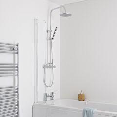 Milano Portland - Splash Shower Guard Bath Screen - Easy Clean Glass